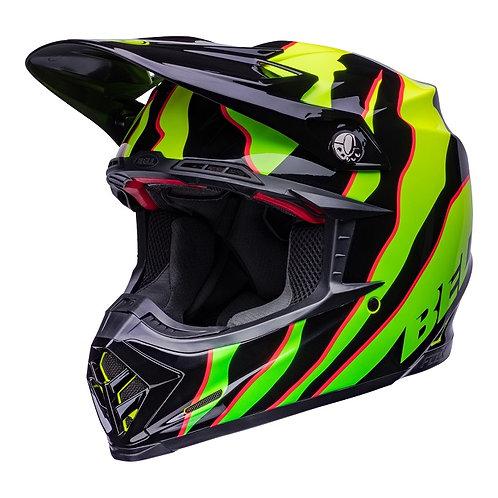 Bell MX 2022 Moto-9S Flex Adult Helmet Claw Black/Green