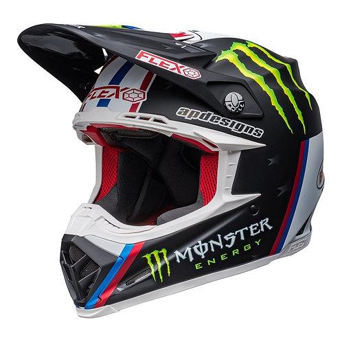 Bell MX 2022 Moto-9S Flex Adult Helmet Tomac Replica Matte Black/White