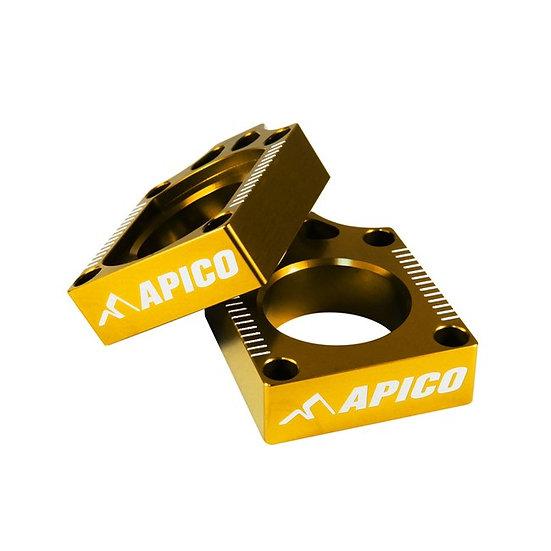 Apico Suzuki RM125/250 02/08 Yellow Axle Blocks