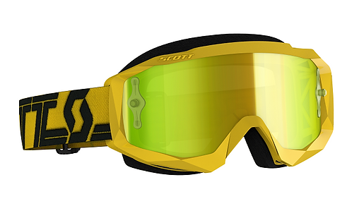 Scott Hustle MX Yellow/Black With Yellow Mirror Lens