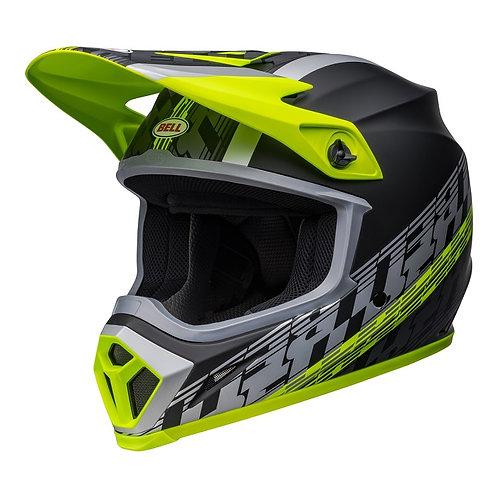 Bell MX 2022 MX-9 Mips Adult Helmet Offset Matte Black/Hi-Viz Yellow
