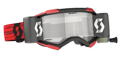 Scott 2022 Fury WFS Roll Off Goggle Dark Red Clear Lens