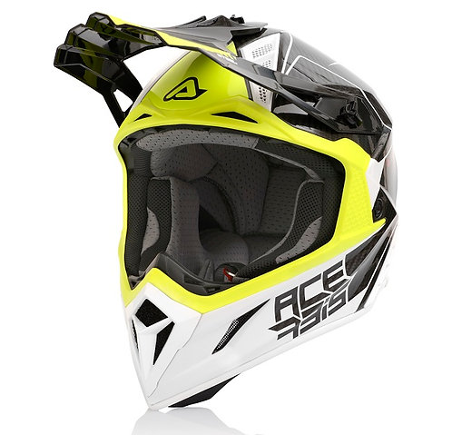 Acerbis 2021 Helmet Steel Carbon White/Yellow