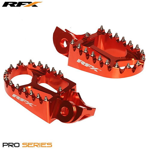RFX KTM Pro Footrests Orange SX65 02-18 SX/EXC/SXF/EXCF 125-525 00-15