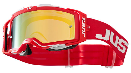 Just1 Nerve Goggle Absolute Red/White With Mirror Gold Lens