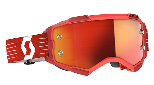 Scott 2021 Fury Goggle Bright Red With Orange Chrome Works Lens