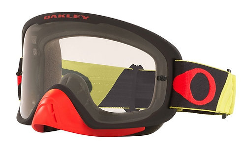Oakley O Frame 2.0 Pro Goggle (Tuff Blocks Yellow/Red) Clear Lens