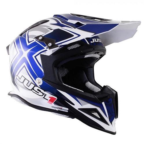 Just1 J12 Carbon Helmet Mister X Blue Last One Medium