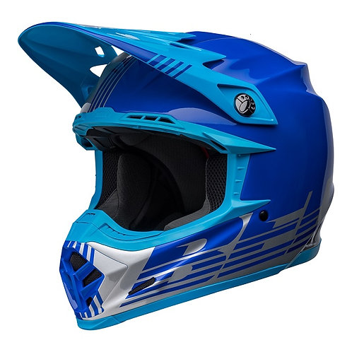 Bell MX 2022 Moto-9 Mips Adult Helmet Louver Grey/Blue