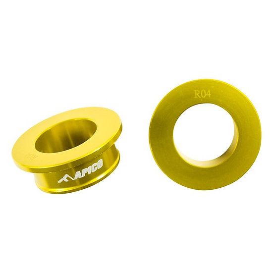 Apico Rear Wheel Spacers RM125/250 01-08 Gold