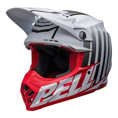 Bell MX 2022 Moto-9S Flex Adult Helmet Sprint M/G White/Red