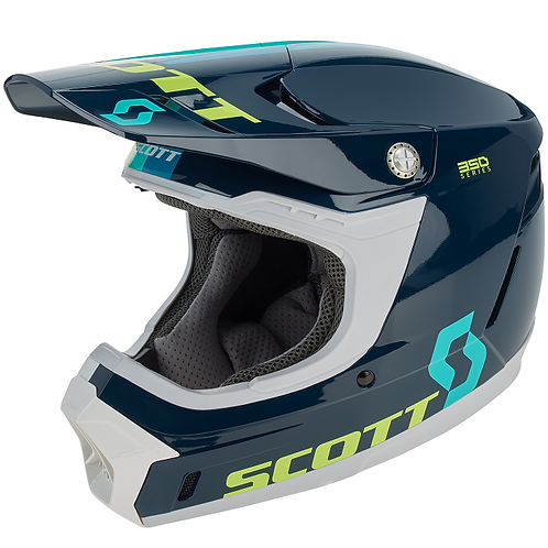SCOTT 350 EVO Plus Track ECE Helmet Blue/Teal