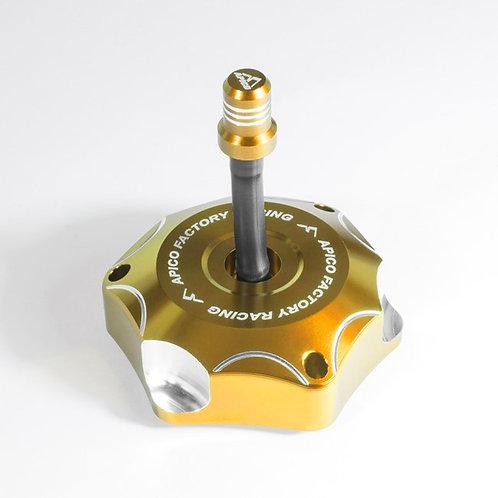 Apico Suzuki Alloy Fuel Cap Gold