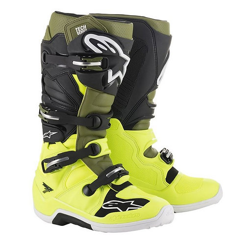 ALPINESTARS TECH 7 BOOT BLACK/FLUO YELLOW