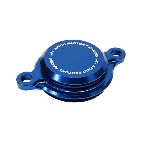 Apico Yamaha Oil Filter Cover Blue