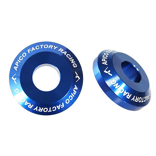 Apico Rear Wheel Spacers Pro YZ125/250 03-21 YZF250/450 03-08 Blue