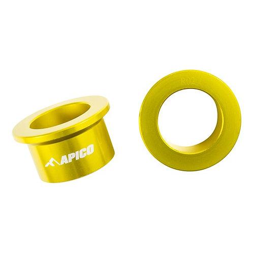Apico Rear Wheel Spacers RMZ250/450 07-21 Gold