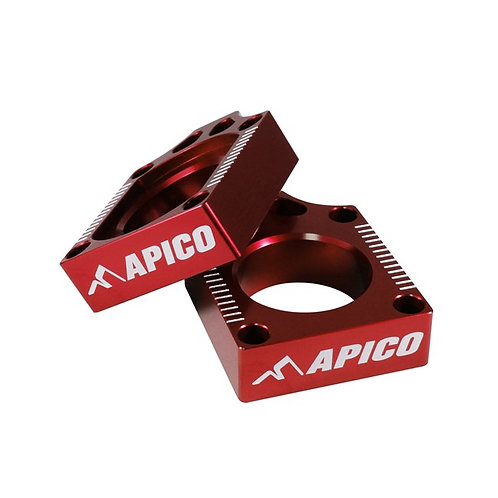 Apico Honda CRF150 07-21 Red Axle Blocks