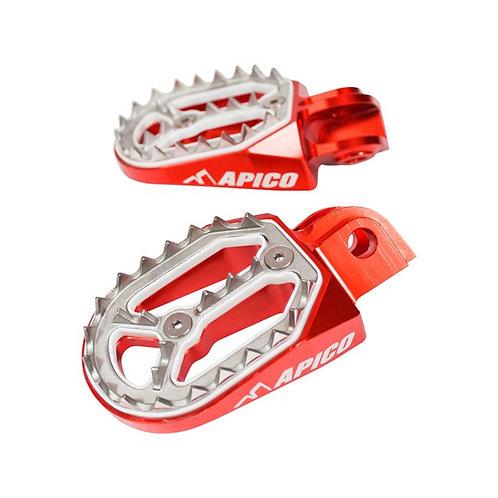 Apico Honda Pro-Bite Foot Pegs Red CR125/250 02-07 CRF250/450 02-21