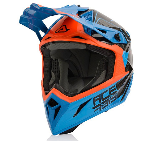 Acerbis 2021 Helmet Steel Carbon Blue/Orange
