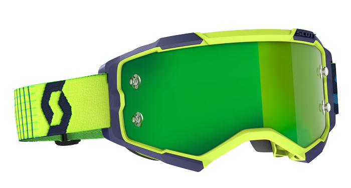 Scott 2021 Fury Goggle Yellow/Blue With Green Chrome Works Lens