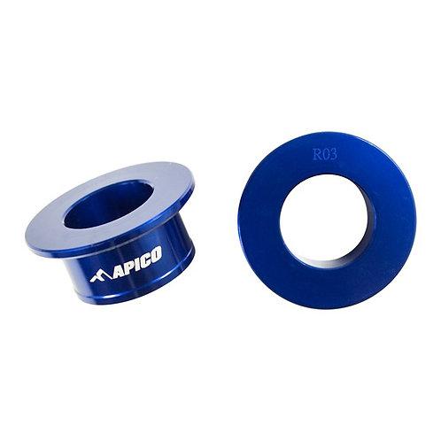 Apico Rear Wheel Spacers YZ125/250 03-21 YZF250/450 03-08 Blue