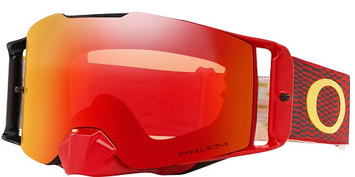 Oakley Front Line MX Goggle (Equalizer Red/Yellow) Prizm Torch Irdium Lens