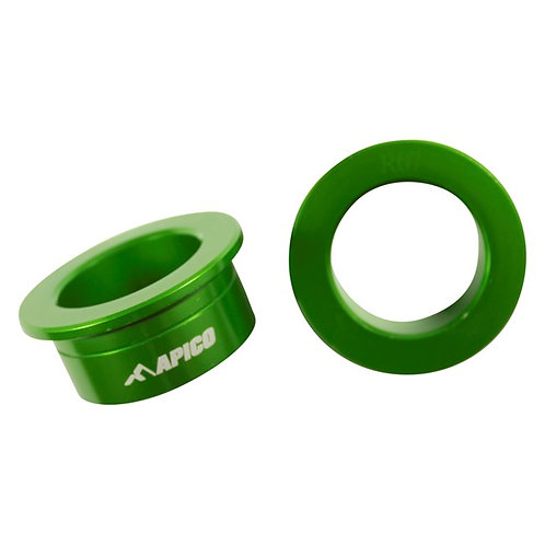 Apico Rear Wheel Spacers KX125/250 03-08 KXF250/450 04-20 Green