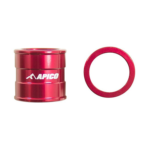 Apico Front Wheel Spacers CR125/250 02-07 CRF250/450 02-21 Red