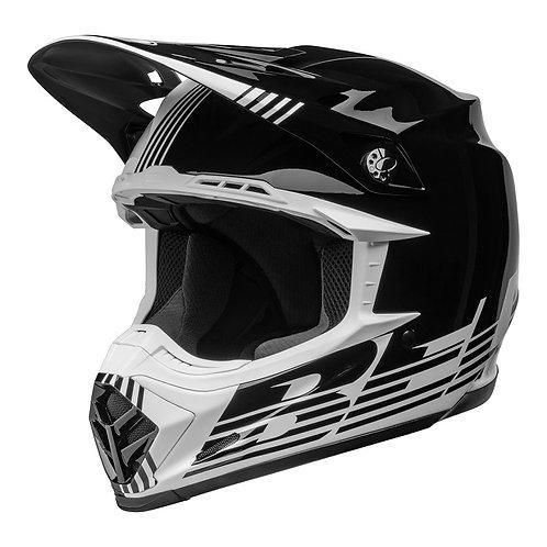 Bell MX 2022 Moto-9 Mips Adult Helmet Louver Black/White
