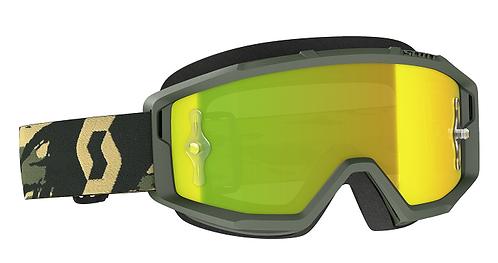 Scott Primal Goggle Camo Khaki With Yellow Works Chrome Lens