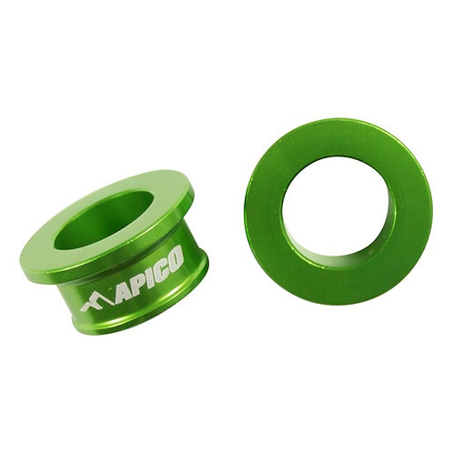 Apico Rear Wheel Spacers KX85 01-21 Green