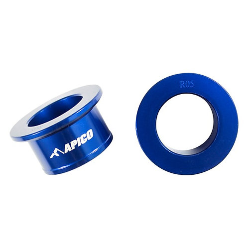 Apico Rear Wheel Spacers YZF250/450 09-21 Blue