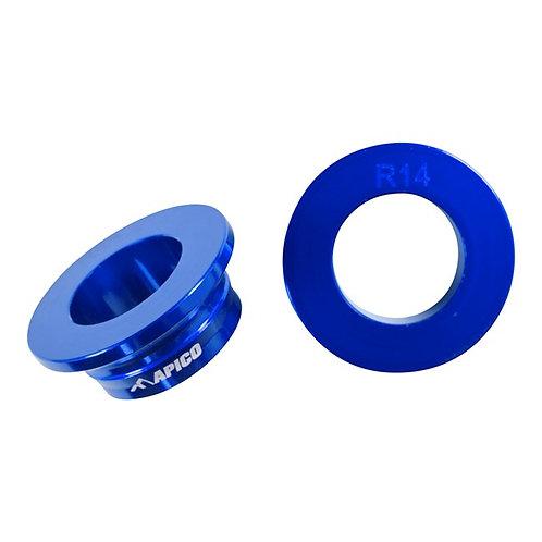 Apico Rear Wheel Spacers TC125 16-21 TC250 17-21 FC 250-450 16-21 Blue