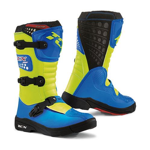 TCX Comp Kids Boot Blue/Yellow