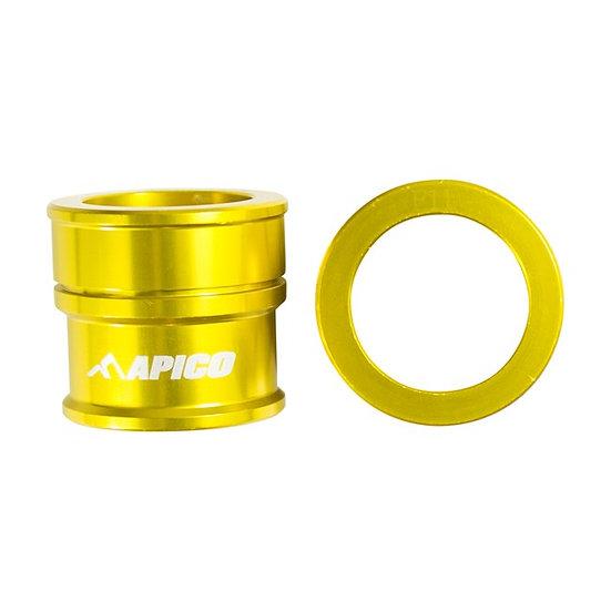 Apico Front Wheel Spacers RMZ250/450 07-21 Gold