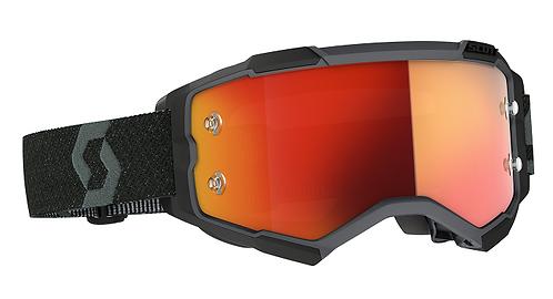 Scott 2021 Fury Goggle Black With Orange Chrome Works Lens