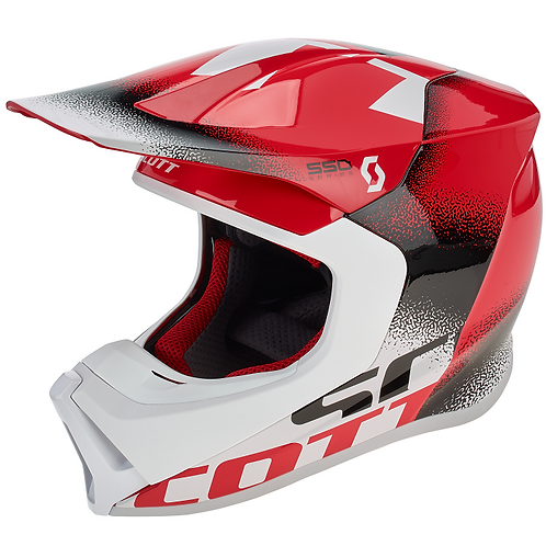 SCOTT 550 Noise ECE Helmet Red/Black