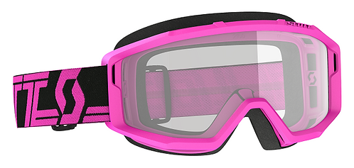 Scott Primal Goggle Black/Pink With Clear Lens