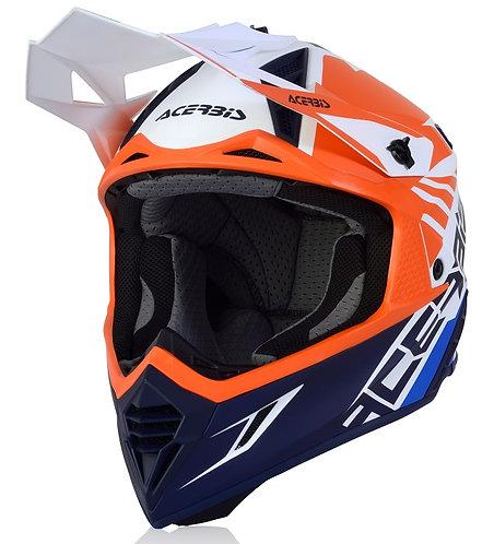 Acerbis X-Track VTR Helmet Blue/Orange Matte
