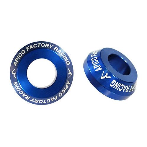 Apico Rear Wheel Spacers Pro YZF250/450 09-22 Blue