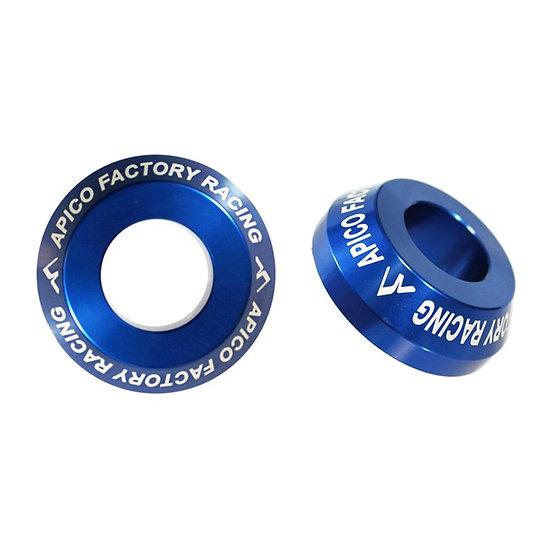 Apico Rear Wheel Spacers Pro YZF250/450 09-21 Blue