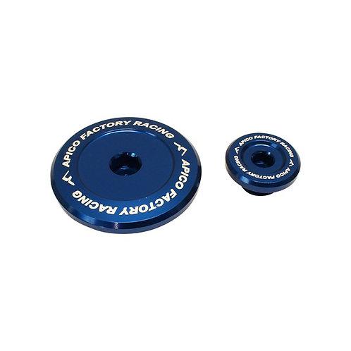Apico Yamaha YZF Blue Engine Timing Plug Set