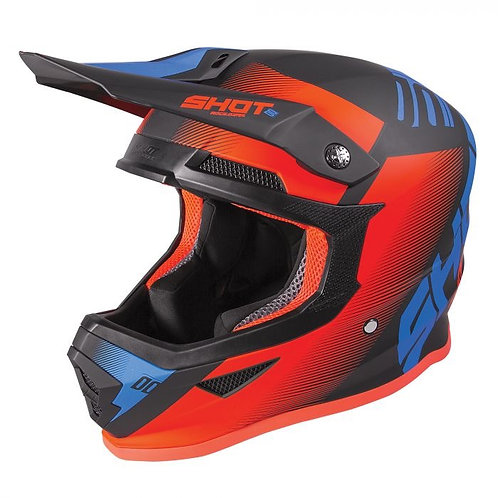 Shot Youth Furious Helmet Trust Blue Neon Orange