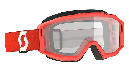 Scott Primal Goggle Red With Clear Lens