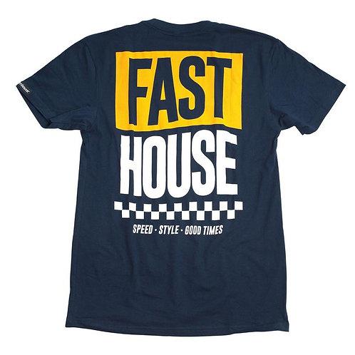 Fasthouse Banner Tee Midnight Navy