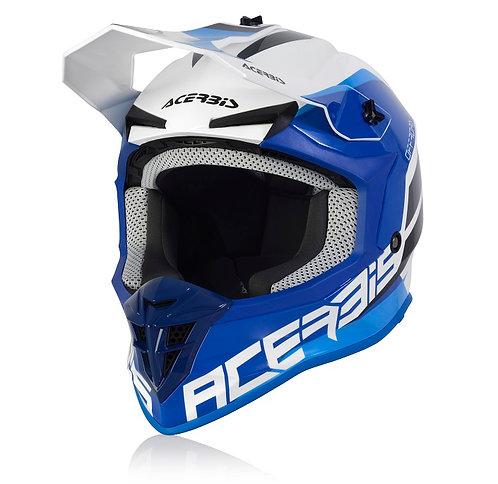 Acerbis 2021 Linear Helmet White/Blue