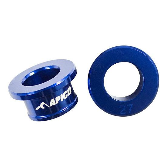 Apico Rear Wheel Spacers YZ65 18-21 YZ80/85 93-21 Blue