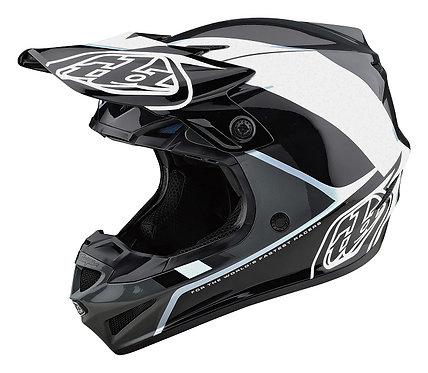 Troy Lee Designs 2021 SE4 Polyacrylite W/MIPS Beta Black/Silver