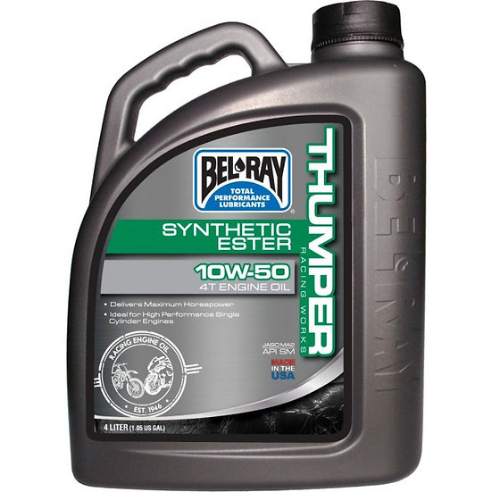 Bel Ray Thumper Racing Works Synthetic Ester 4T 10w/50 4L Engine Oil
